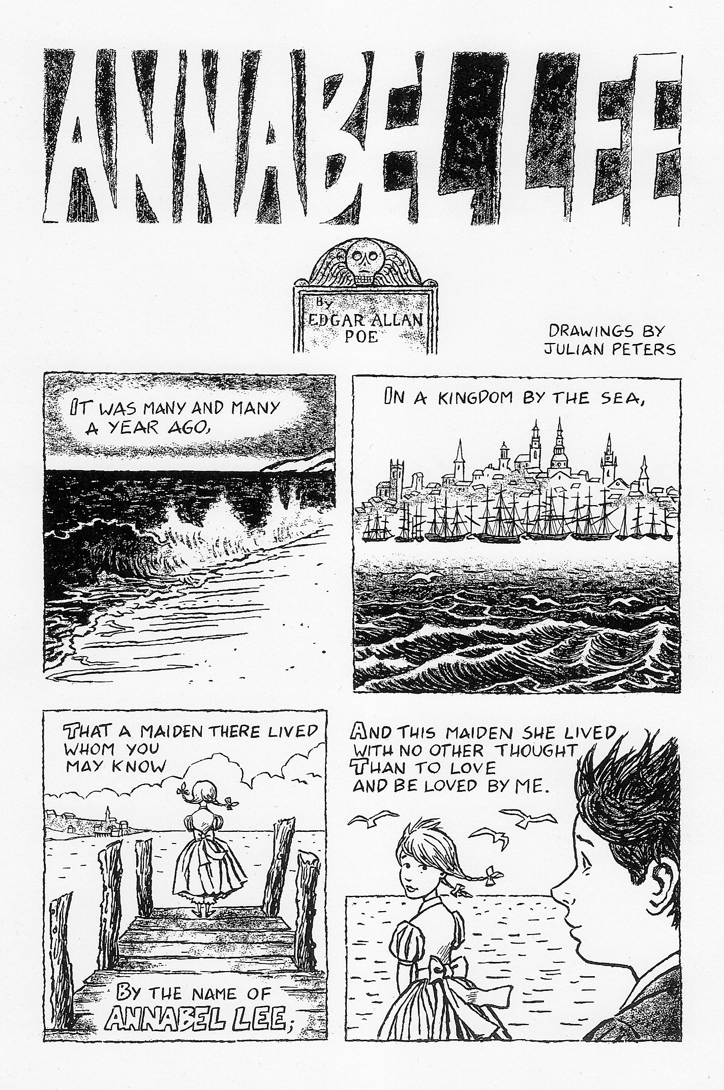 annabel lee worksheet  annabel lee by edgar allan poe julian peters comics