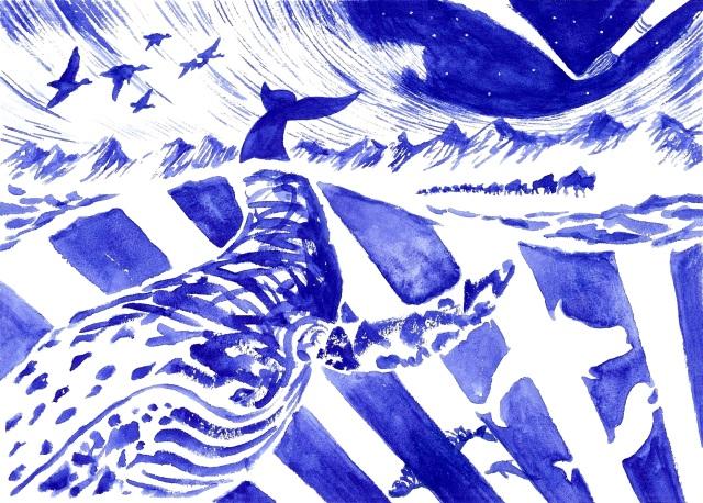 Cheval de bleu 1
